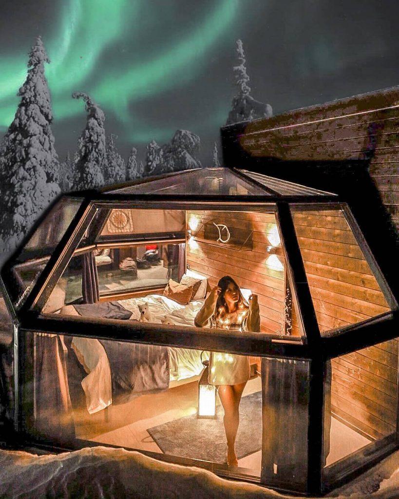 glass igloo lapland